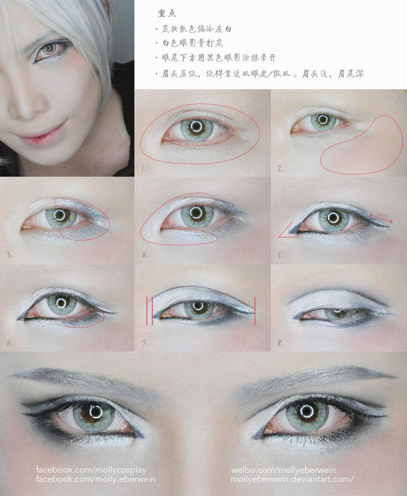 Cosplay eyes make up tutorial by mollyeberwein Cosplay