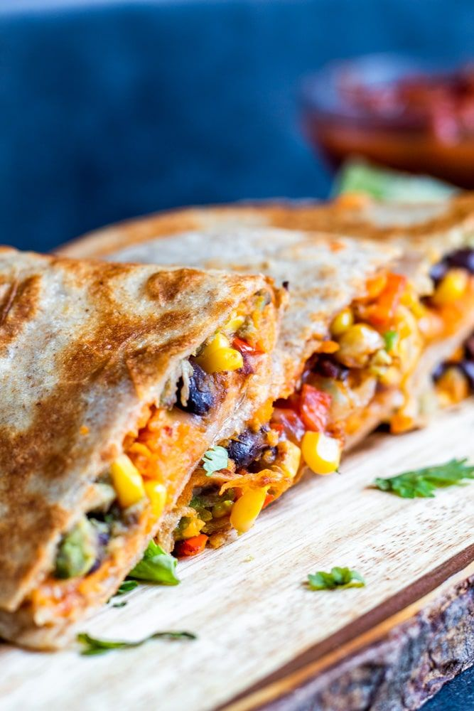 Photo of Vegetarian Quesadillas with Black Beans and Sweet Potato