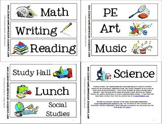 free subject labels or headers by classroom compulsion tpt