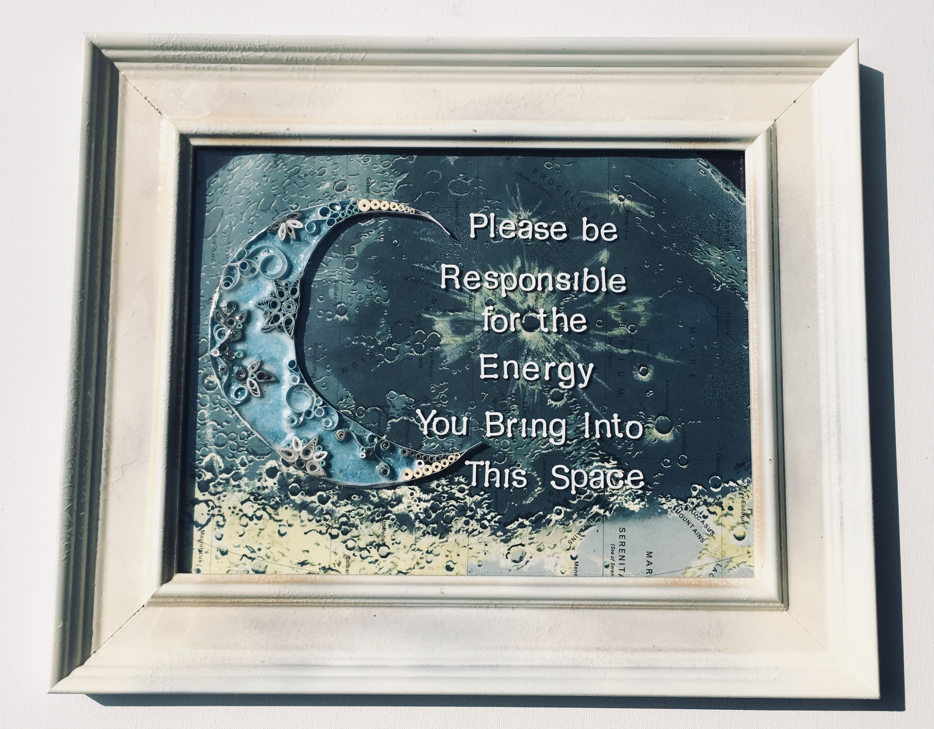 145X 12 Repurposed Document Frame With An Aged Paint Highlight