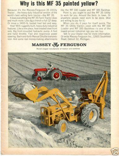 1964 Massey Ferguson MF 35 Utility Tractor Print Ad Why is
