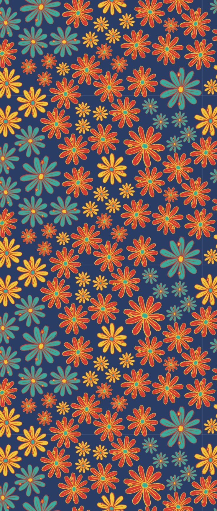 Illuminated Floral Pattern By Natalya Antuanetto Seamless Repeat