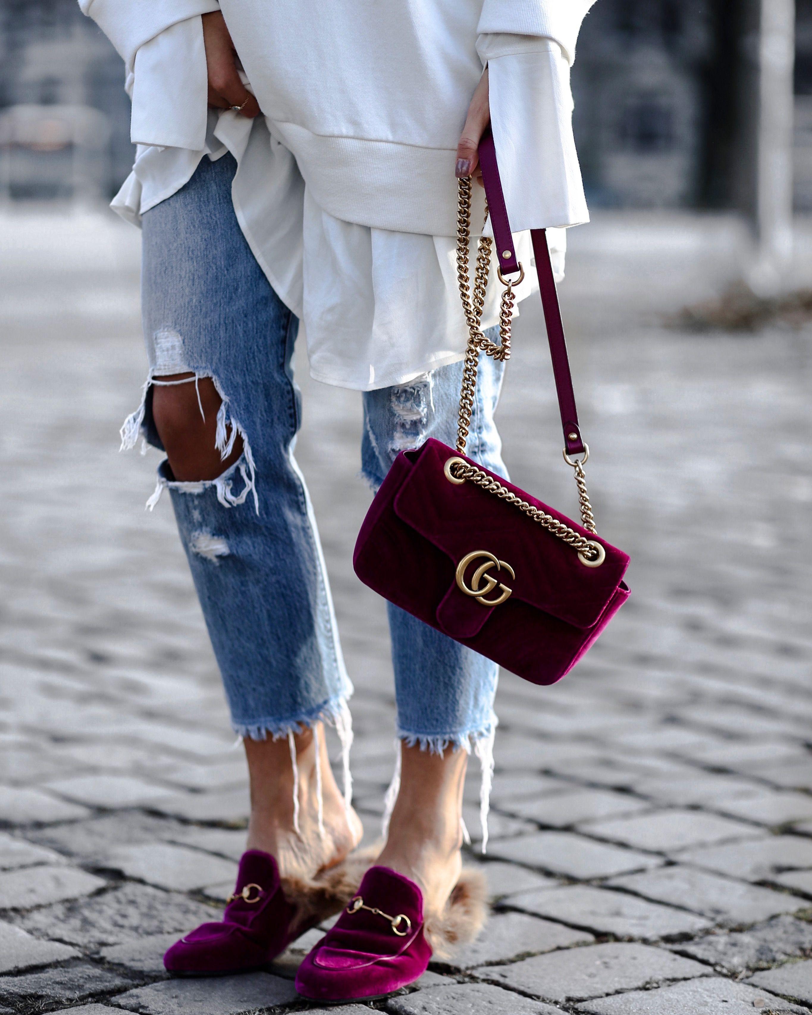cb7f9553f1988 Gucci marmont velvet bag - princetown loafer   TRENDS I LOVE ...