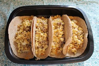 Breakfast Burritos in the #freezer. Great for a fast, filling breakfast.
