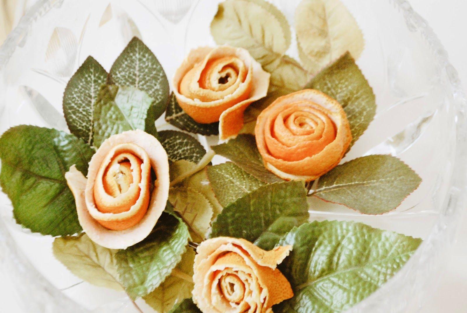 Iby Lippold Haushaltstipps : Rosen aus Clementinenschale