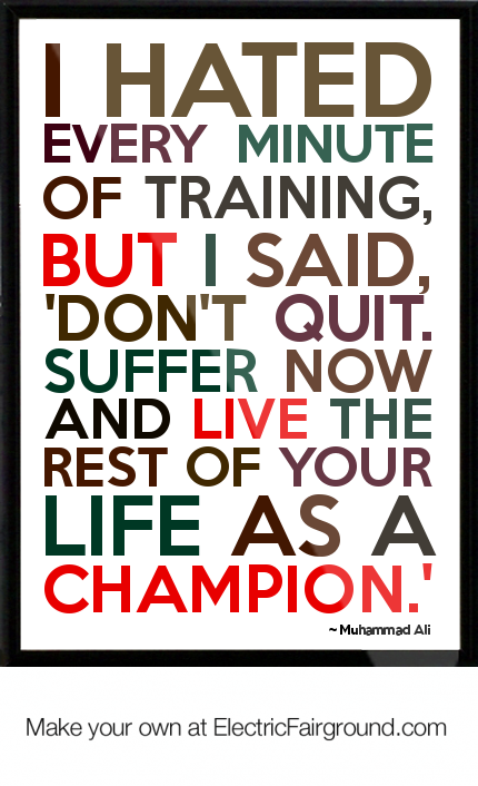 Muhammad Ali Framed Quote | Say Something Anything At All | Pinterest