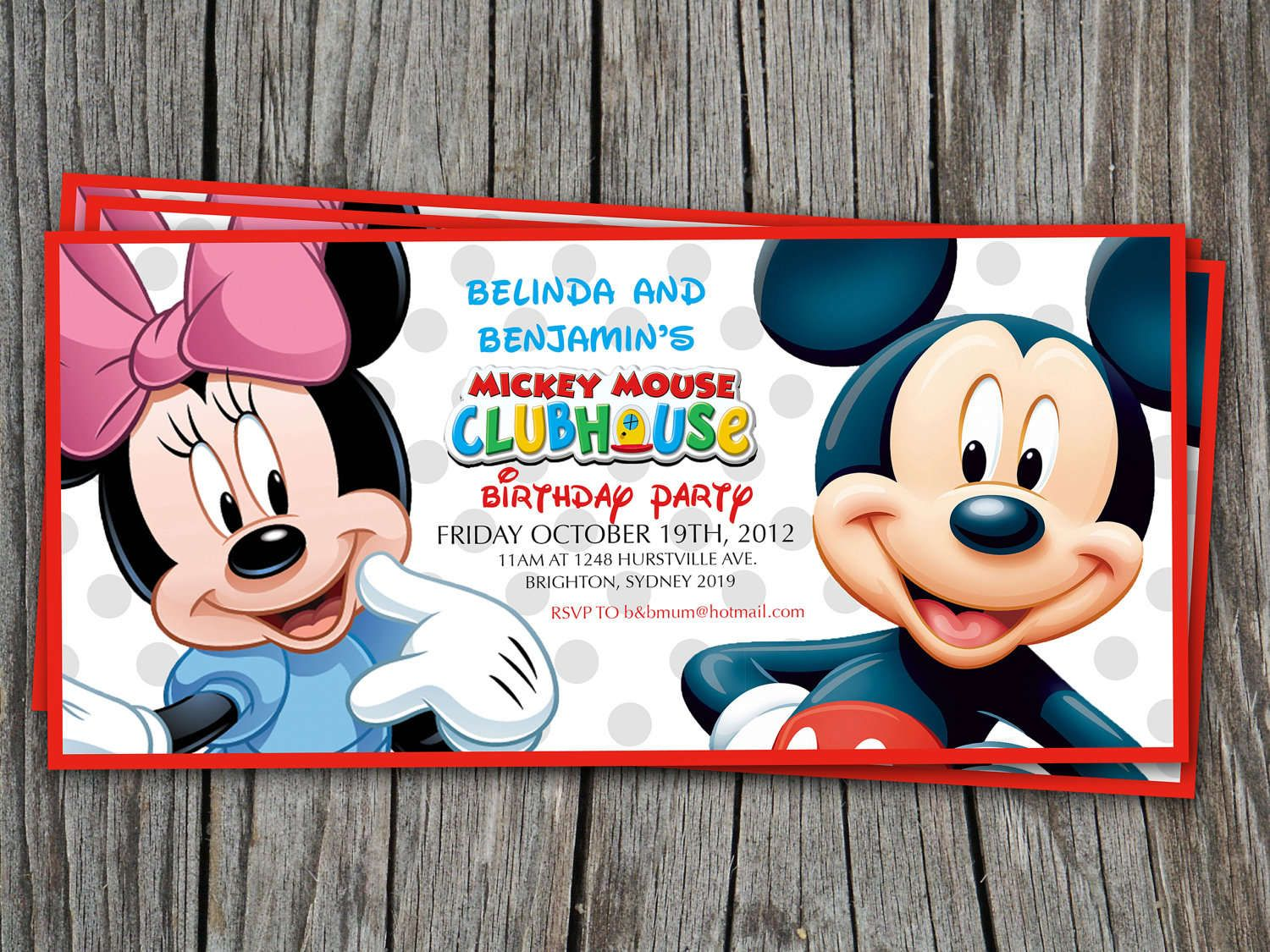 Mickey Mouse Ticket Invitations Template Mickey Mouse Clubhouse