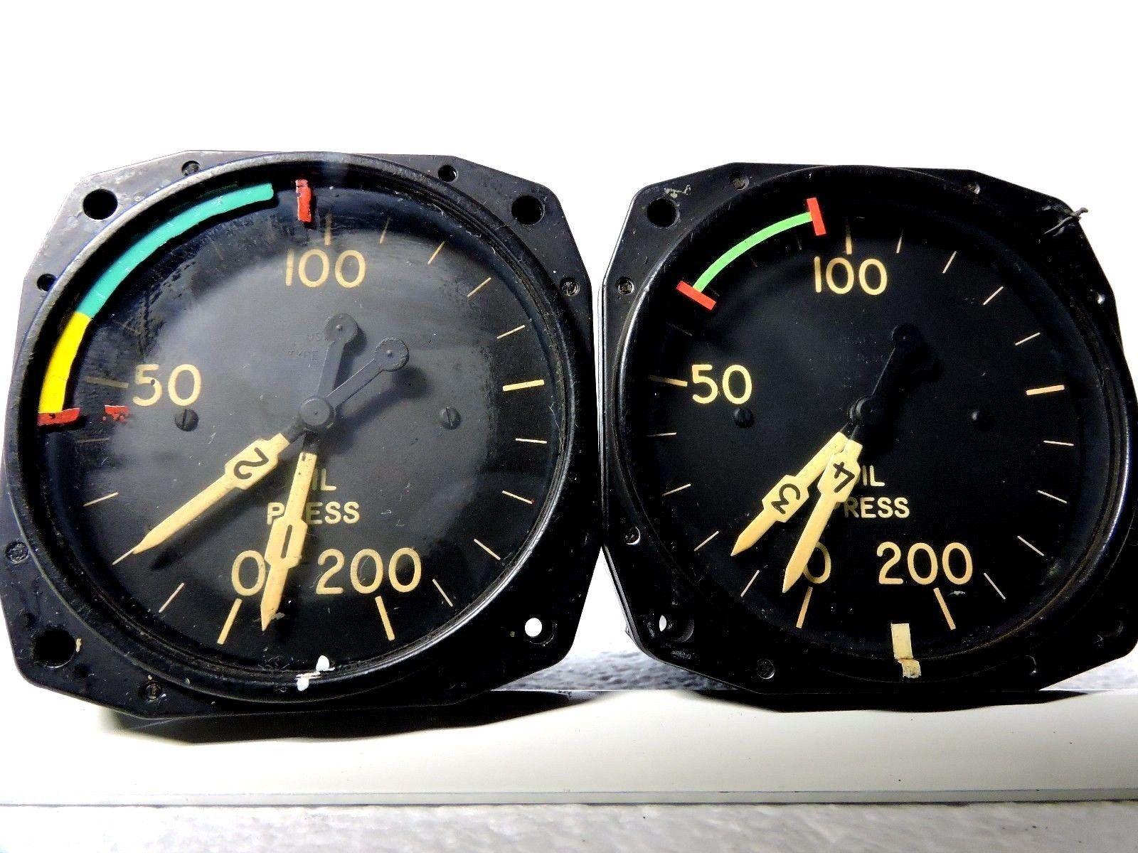Oil pressure gauge set dual engine for 4 engine aircraft us gauge oil pressure gauge set dual engine for 4 engine aircraft us gauge type b 9c altavistaventures Images
