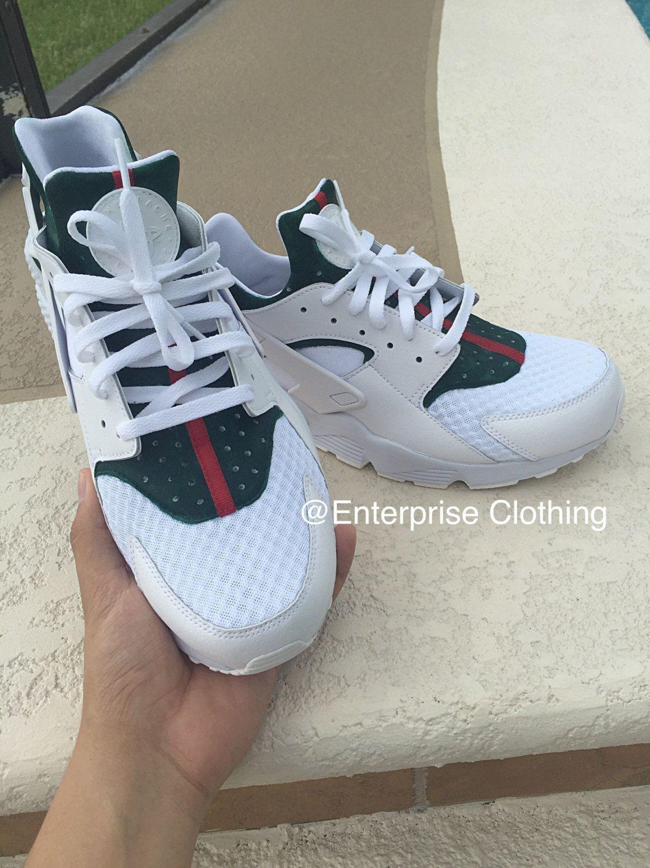 973506d14b27 Custom White Nike GUCCI Huaraches Gucci Huarache