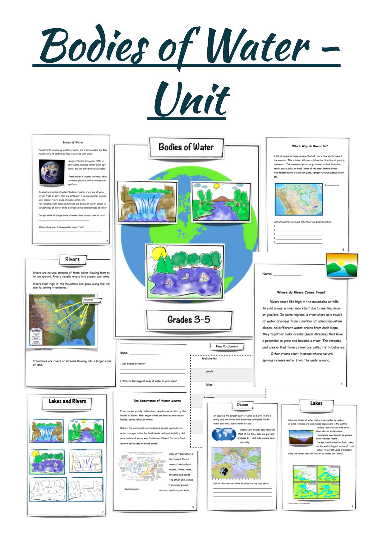Bodies Of Water Unit Science Lesson Plans Elementary Teacher Favorite Things Science Teaching Resources [ 1800 x 1200 Pixel ]