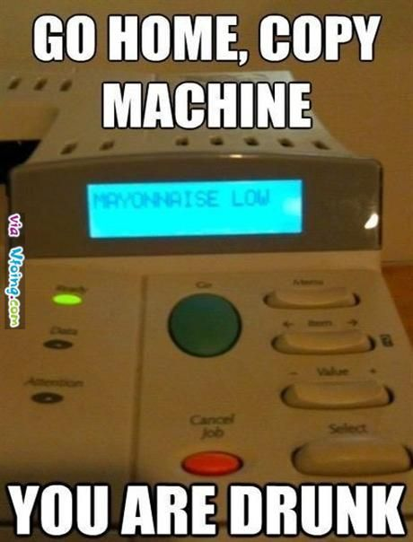 The Copy Machine is Drunk!!!