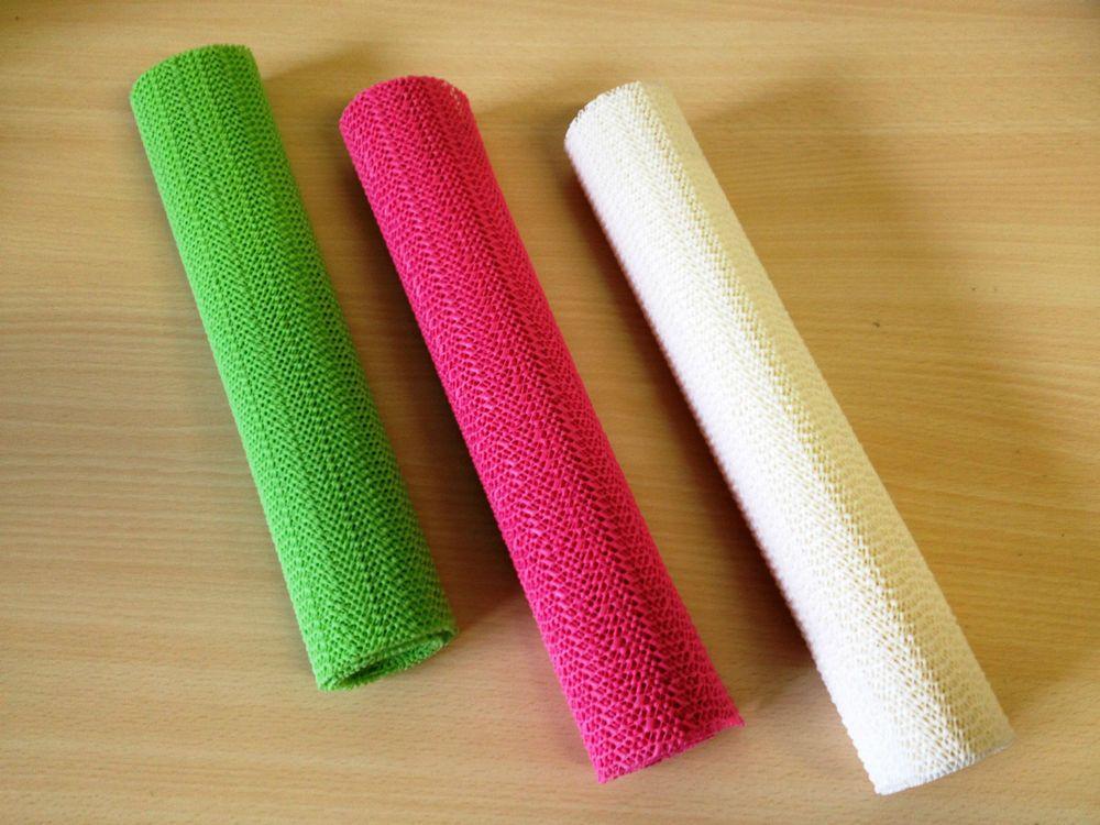 Non slip drawer liner or non slip rug mats work great to