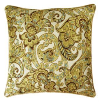 M Kennedy Home Grand Paisley Decorative Pillow Multicolor Amazing M Kennedy Home Grand Paisley Decorative Pillow