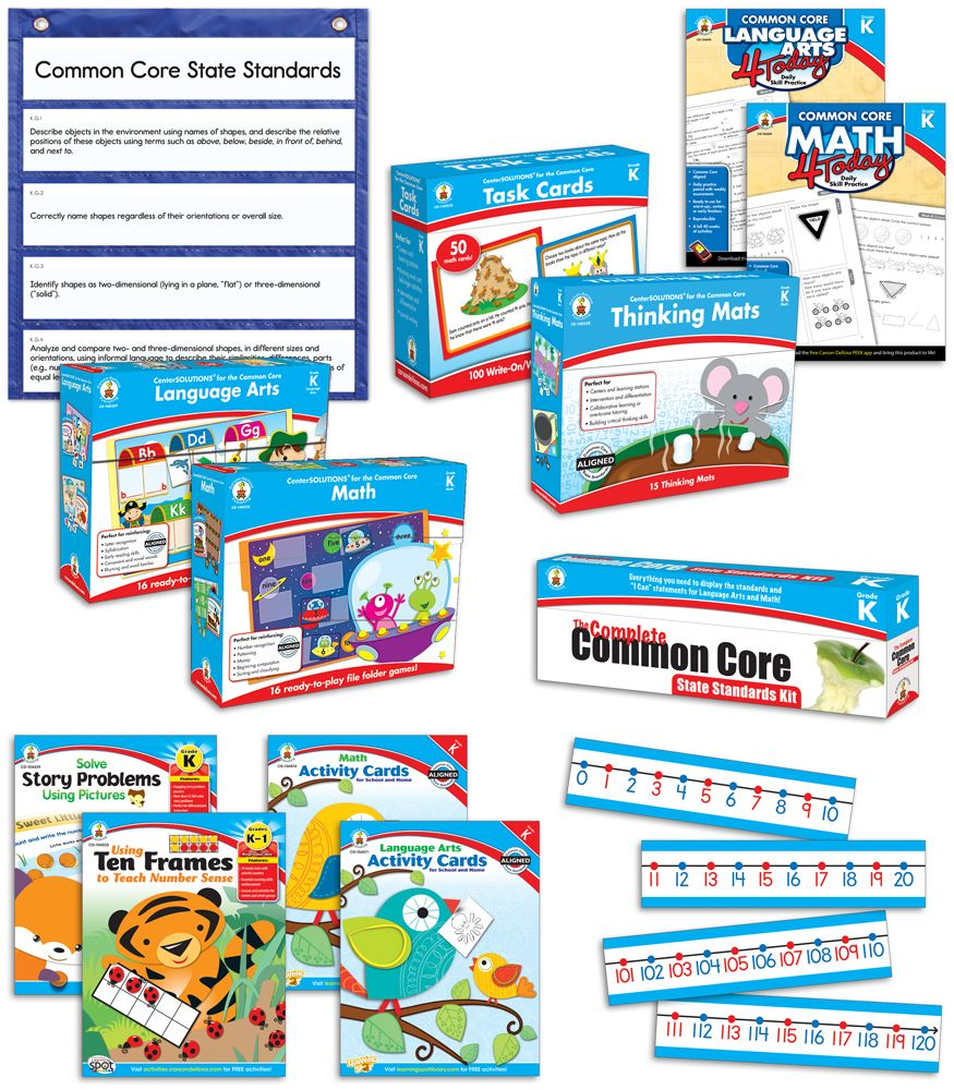 Workbooks kindergarten common core workbook : Complete Common Core Supplemental Resource Set - Workbooks ...