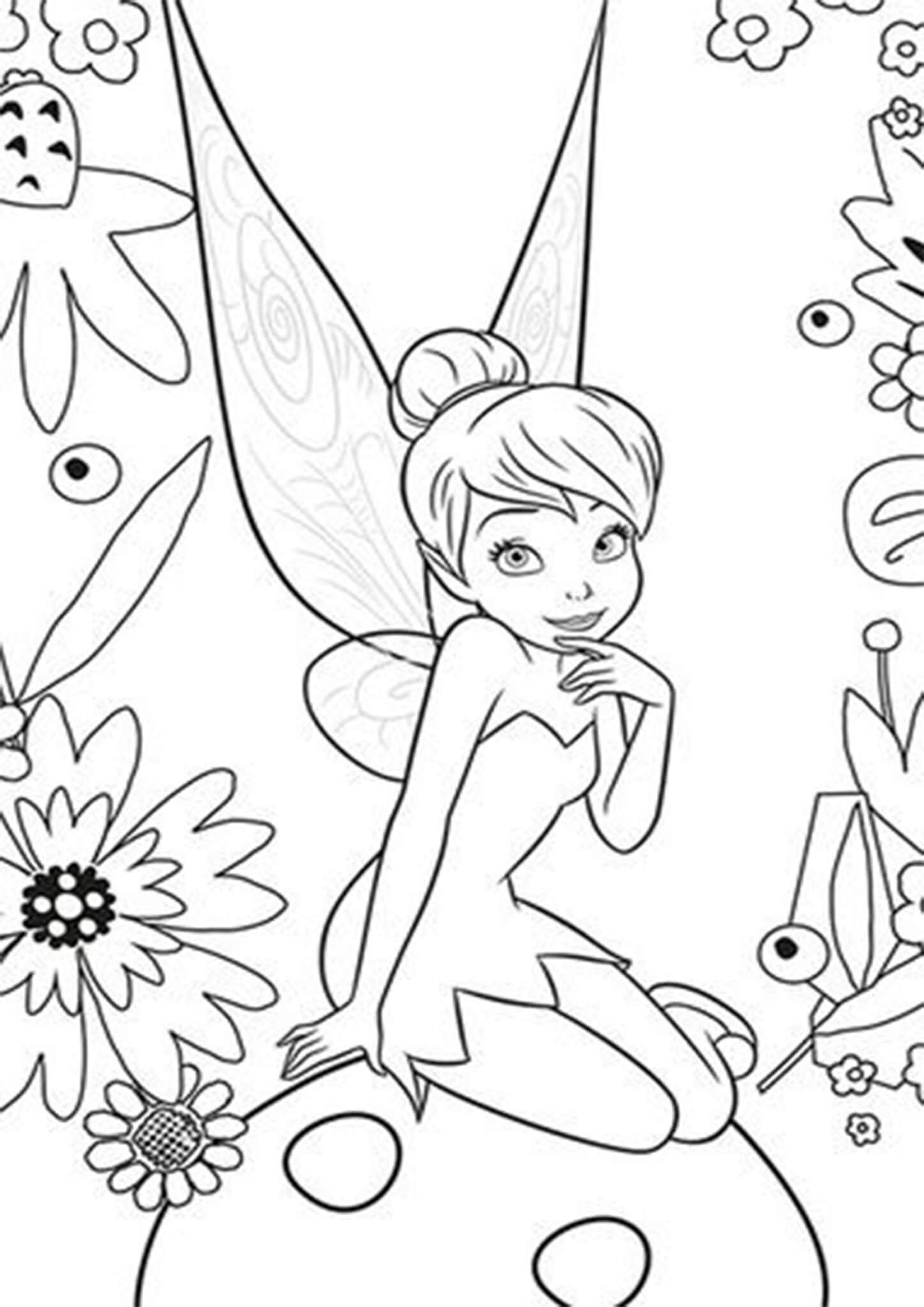 Free & Easy To Print Tinkerbell Coloring Pages  Coloriage