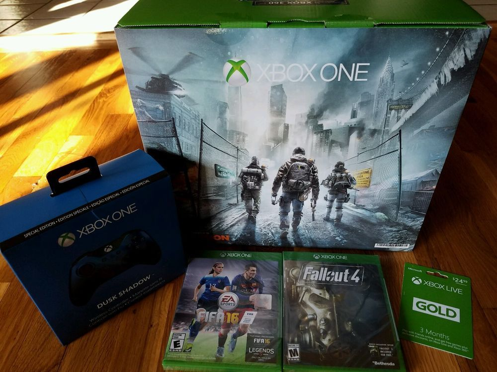 Xbox One 1TB Console: Tom Clancy's Division Gaming Bundle Extra Contoller/Games…