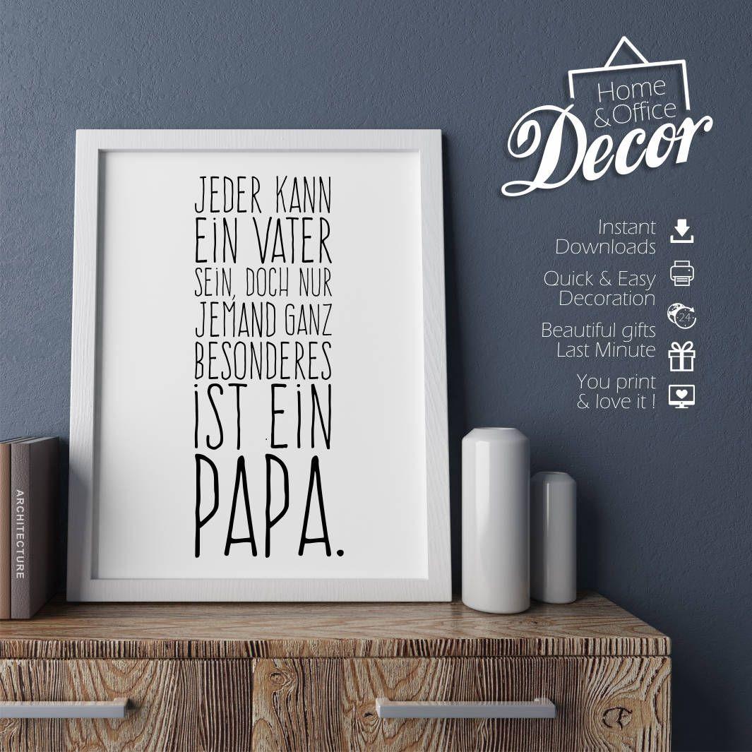 Vatertag Druckvorlage Für Papa Inkl Geschenkanhänger Bild