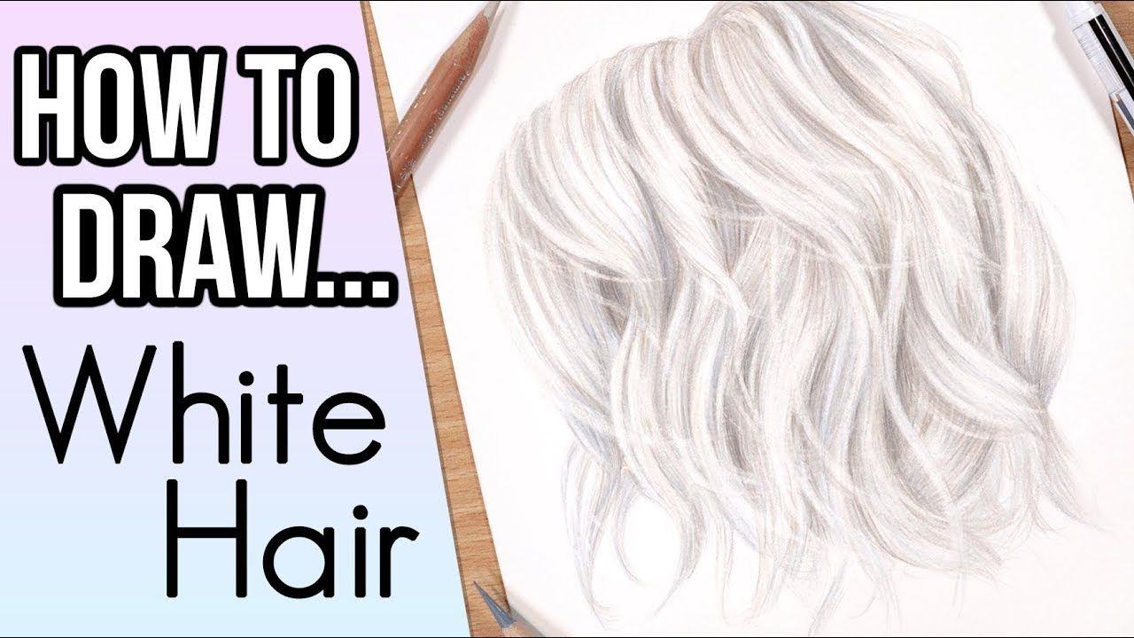 draw white hair in colored