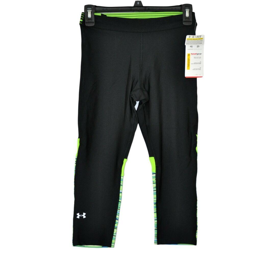 5a76fd6b051c38 Under Armour Women's UA Heatgear Capris Pants size S NWT #UnderArmour  #ActivewearLeggings