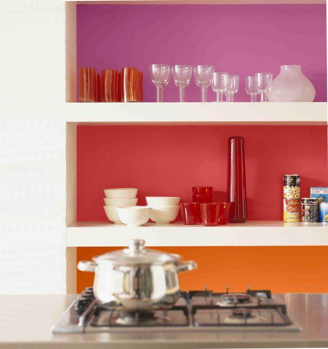 Balance of Orange, redorange and red (pink being a tone
