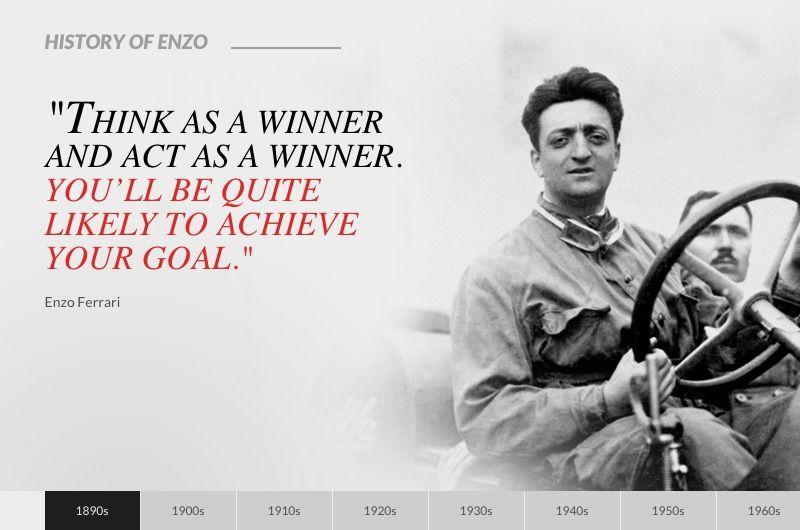 History Of Enzo Ferrari Racing Quotes Powerful Motivational Quotes Ayrton Senna Quotes