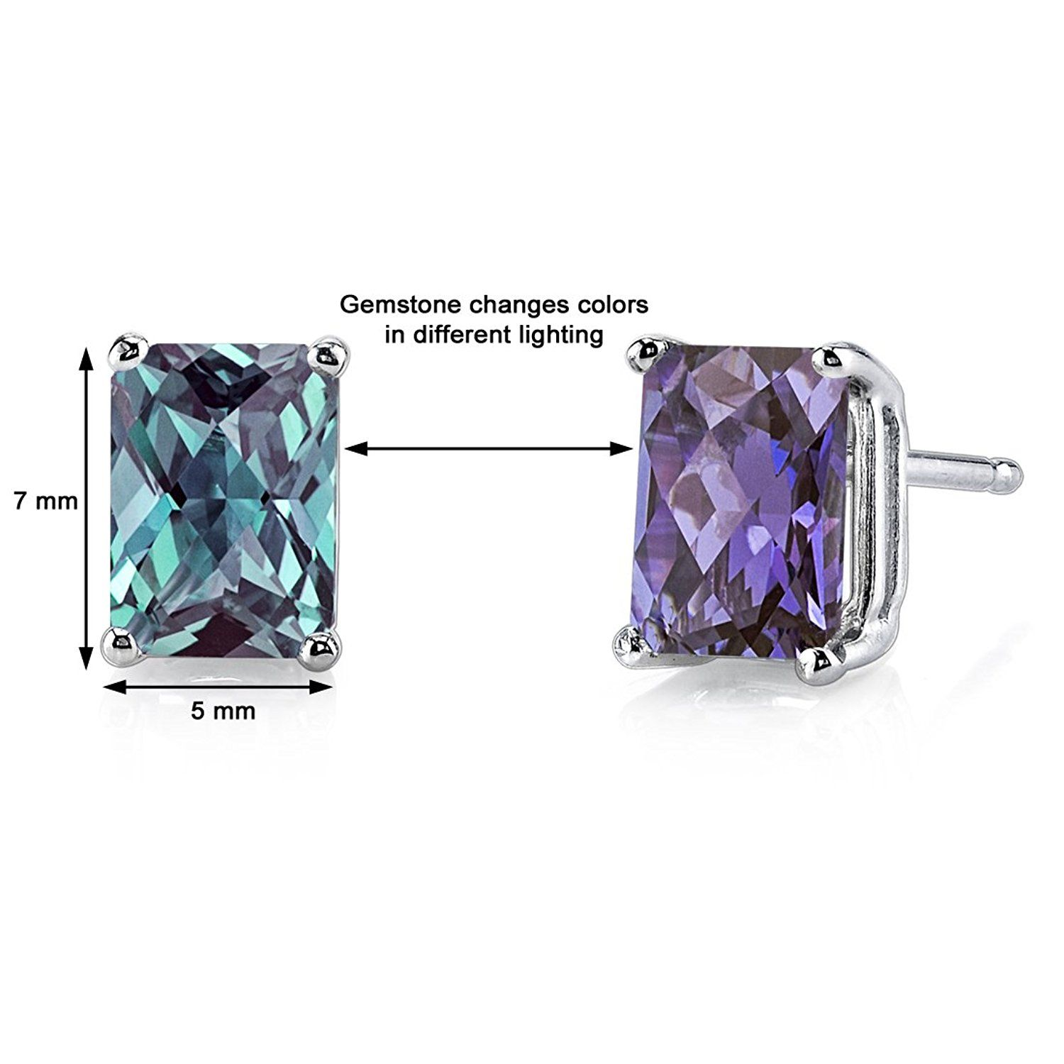 natural gold swiss topaz alexandrite brazilian blue genuine stud earrings