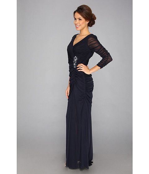 Adrianna Papell Drape Covered Gown | Taylor\'s Wedding-My Dress ...