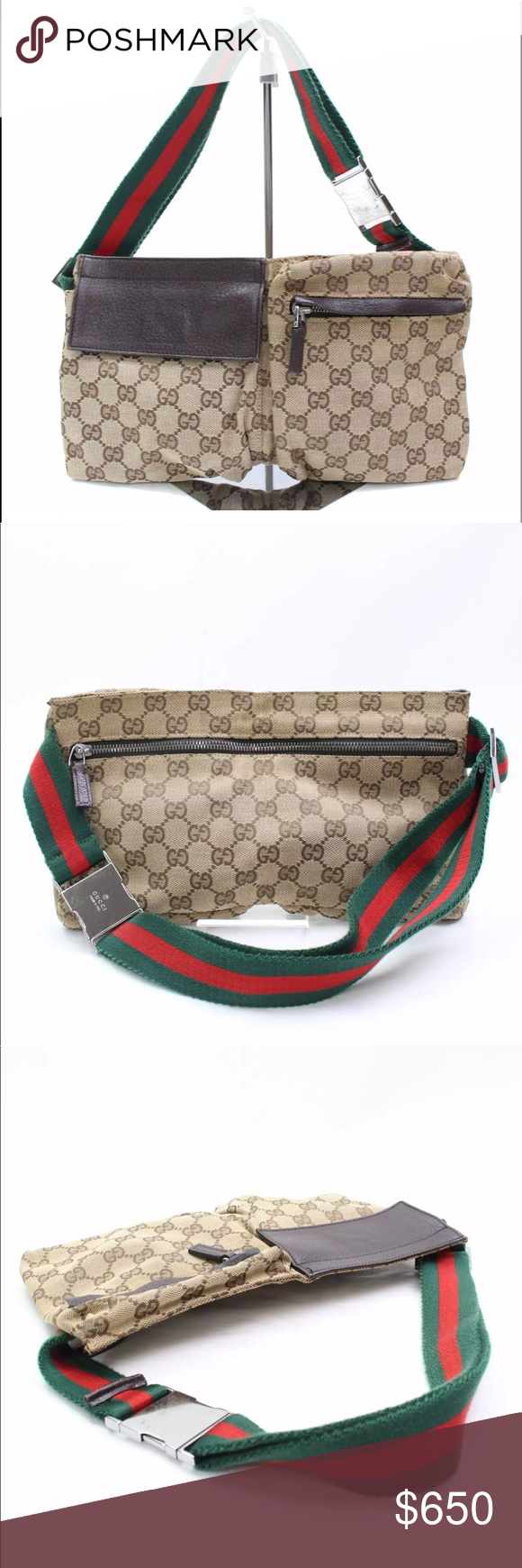 1a8f07293ad Authentic GUCCI waist bag fanny pack bum bag Authentic GUCCI waist bag fanny  pack