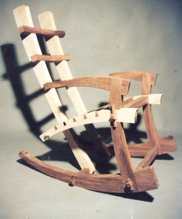 japanese furniture plans. Japanese Rocking Chair Built With No Glue Or Hardware. Furniture Plans T