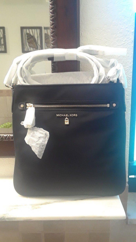 2421802d6e3b NWT+Michael+Kors+Kelsey+Large+Crossbody+Bag+Nylon+PVC+Damson+Zip+Closure