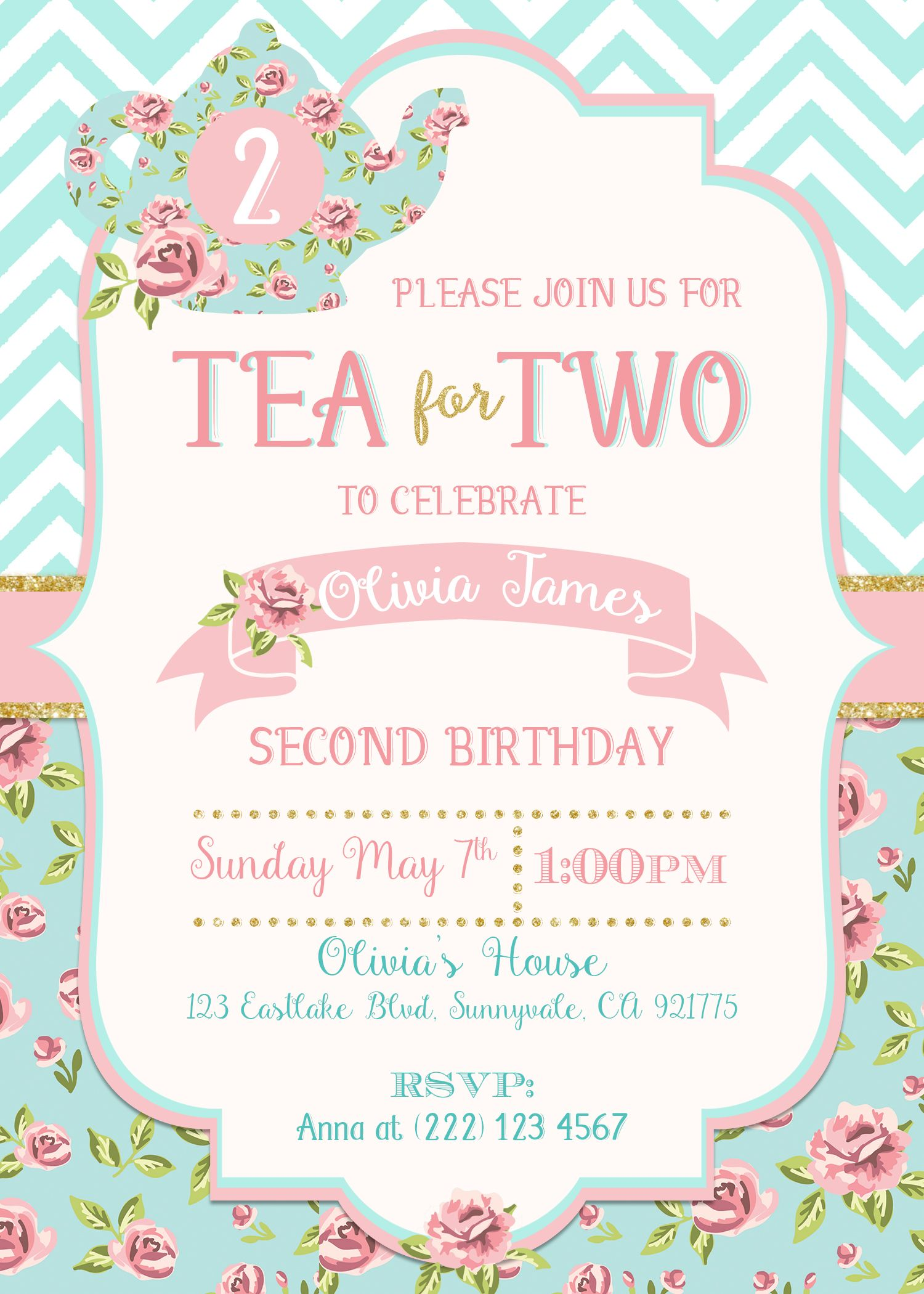 this invitation is perfect for your baby girl s 2nd birthday party