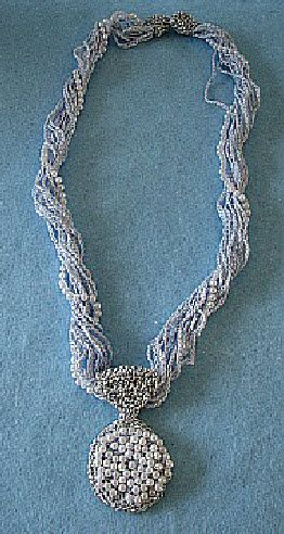 Free Pattern For Crochet Pearl And Thread Necklace Pendant