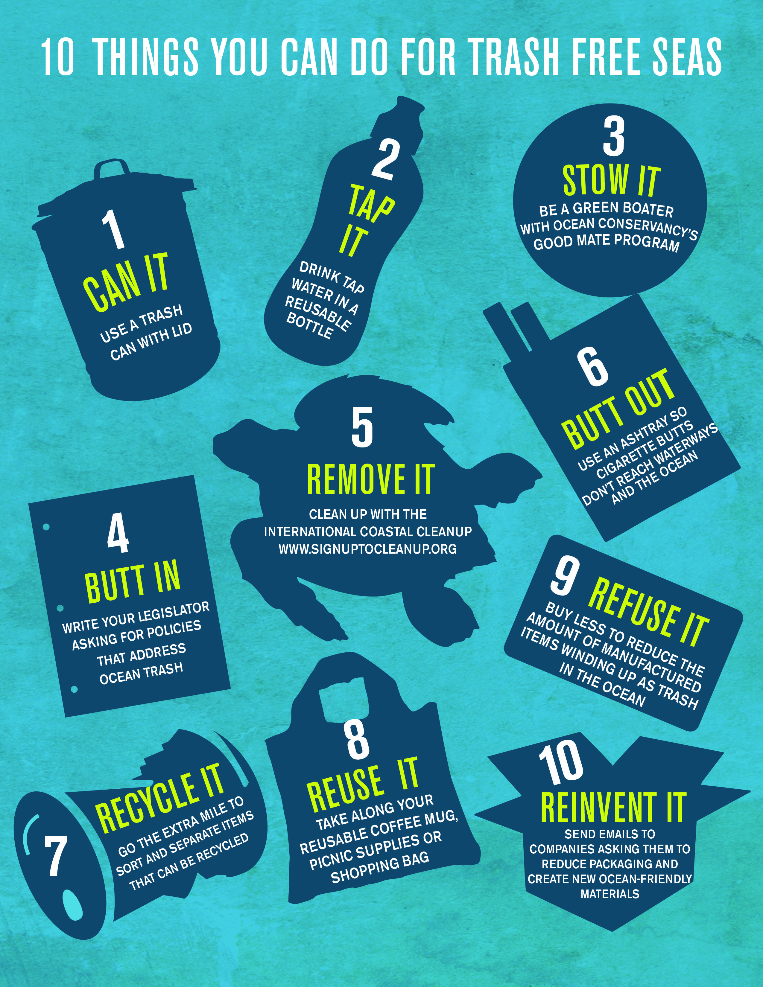 10 Things You Can Do For Trash Free Seas. We do some work to help