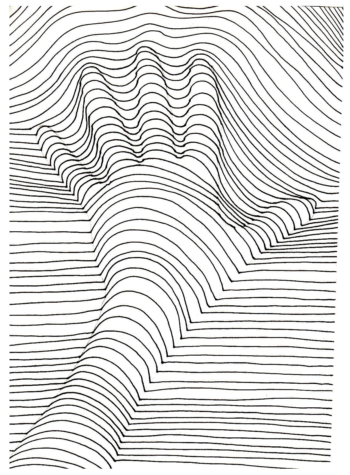 50 Printable Adult Coloring Pages That Will Make You Feel Like a Kid Again #Lines