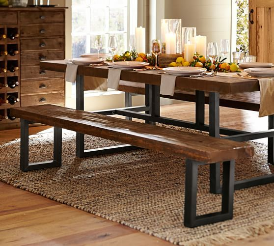 Griffin Reclaimed Wood Dining Bench | Mesa de madera, Muebles ...