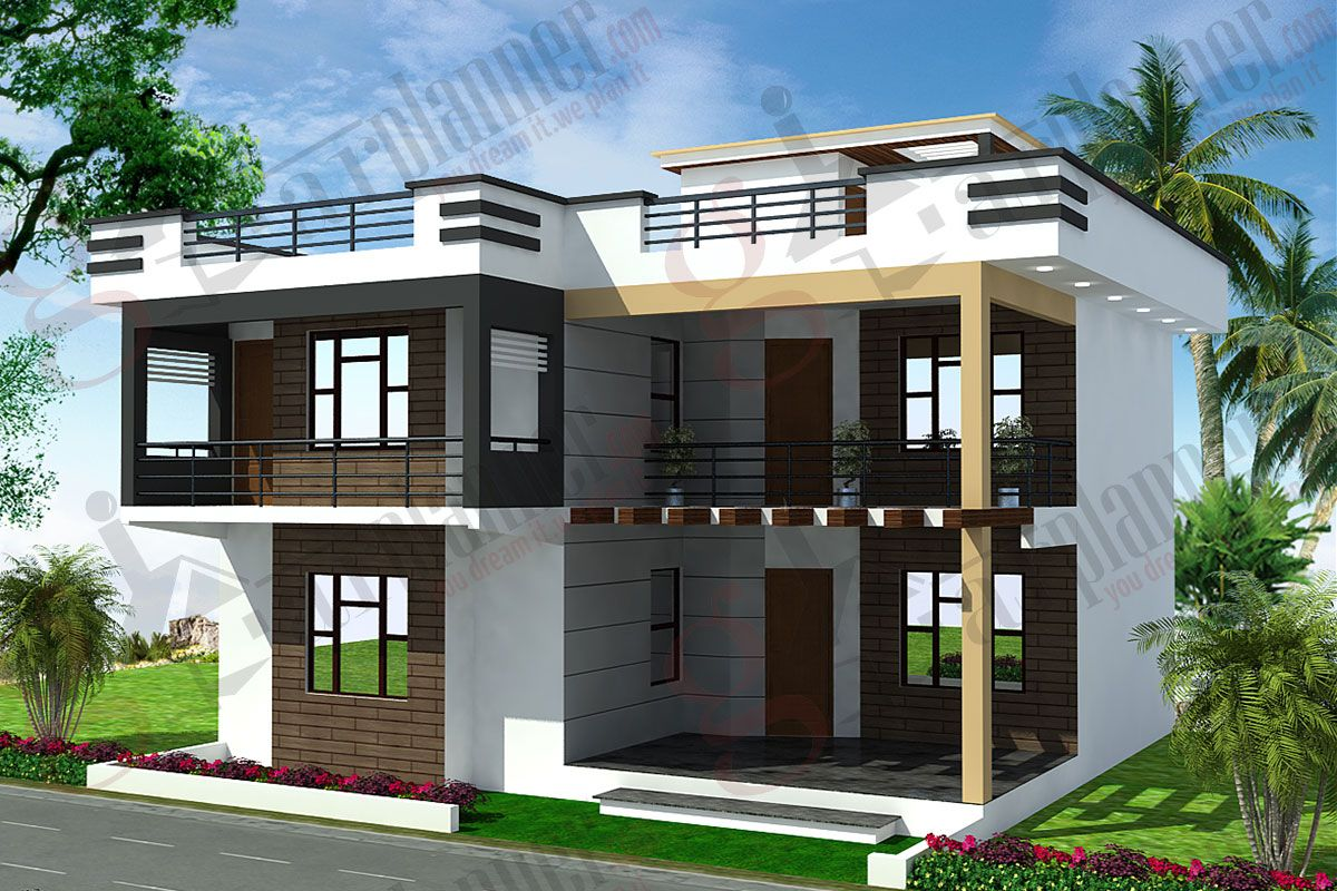 House design hilly area - House