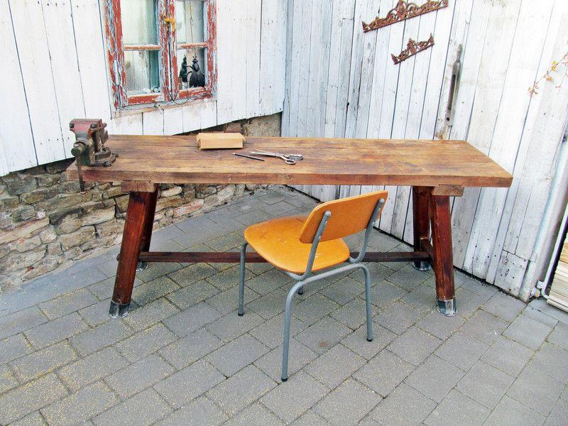 Alte Werkbank alte werkbank tisch schreibtisch industrial