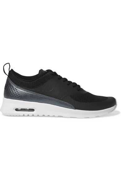 reputable site 0d836 8db53 NIKE Air Max Thea Mesh And Faux Leather Sneakers.  nike  shoes  sneakers