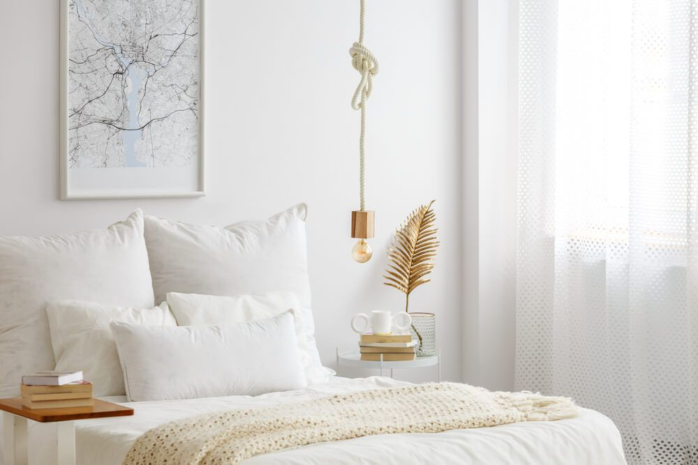 6 Tips Voor Decoratie Boven Je Bed Gouden Slaapkamer Witte Slaapkamer Inrichting Witte Slaapkamer