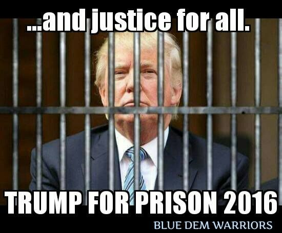 Yes, for raping a (then) 13 year old girl, & for the RICO charges involving him making $4,000,000 on his fake Trump University, for starters..........
