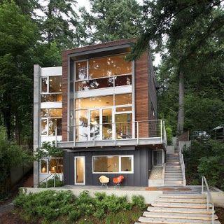 rumah rumah minimalis: south korea modern homes designs exterior