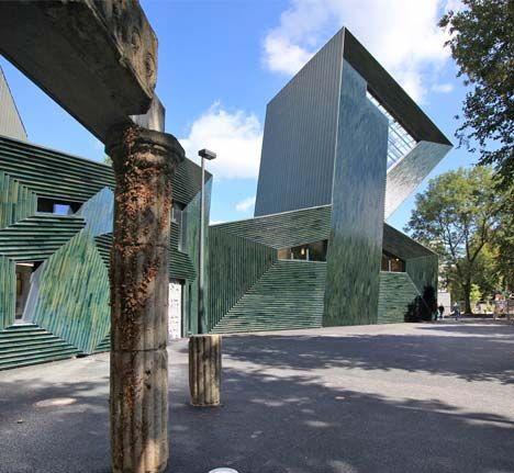 Manuel Herz Architects Of Basel Have Designed This Centre For The Jewish Community In Mainz Germany Covered In Glazed Green Ceramic Mainz Architect Synagogue