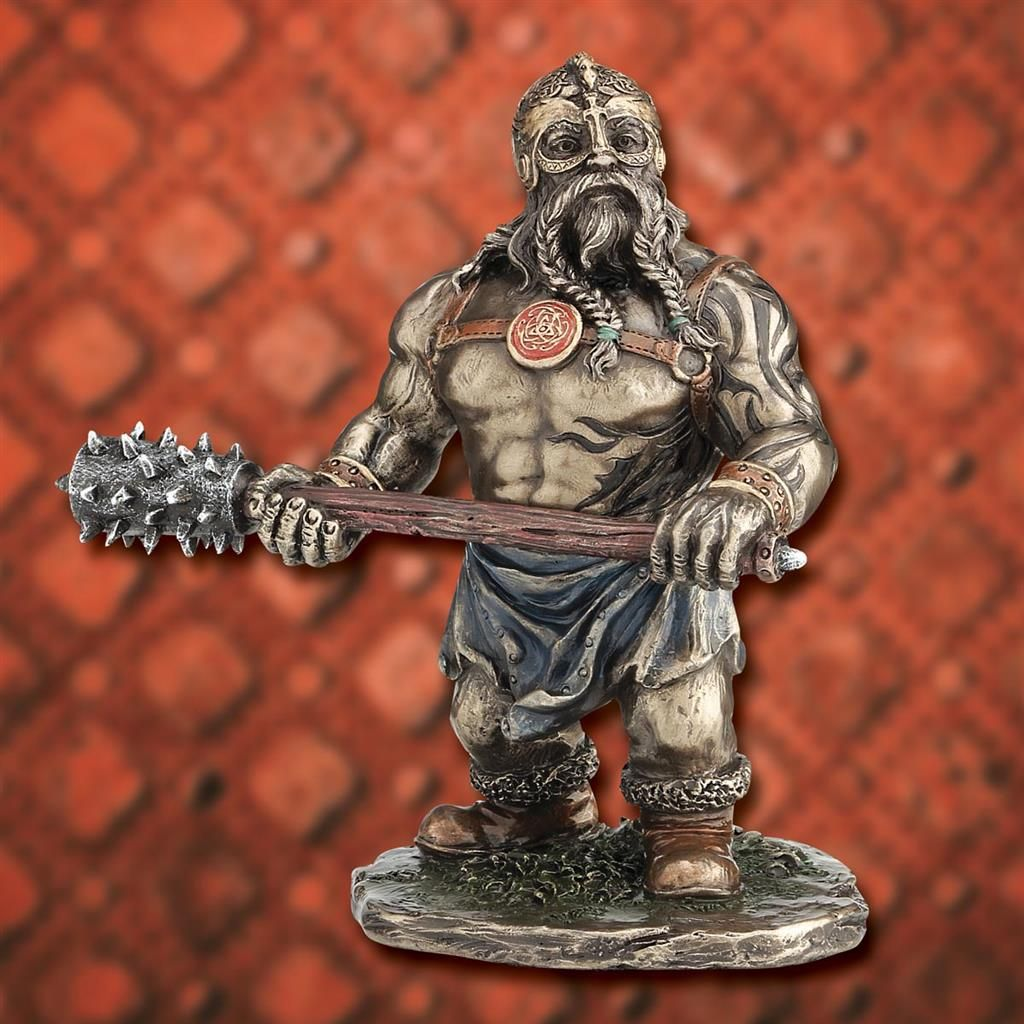Shorty Viking with Club Statue