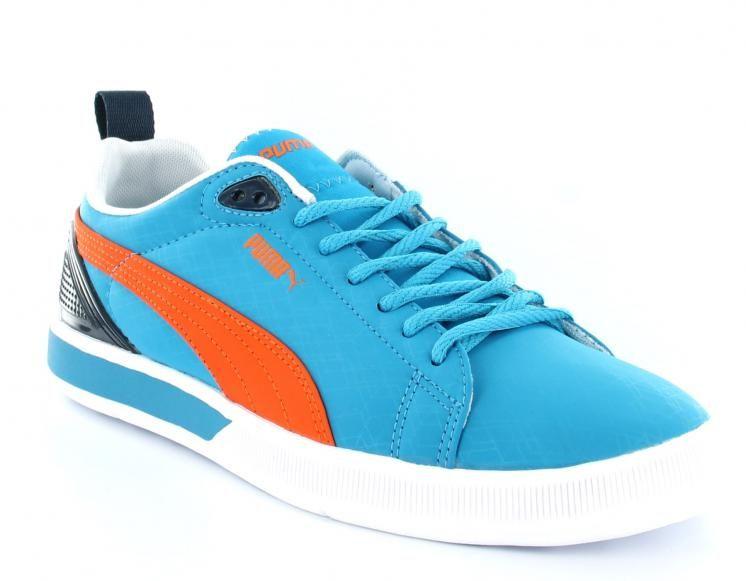 puma bleu orange