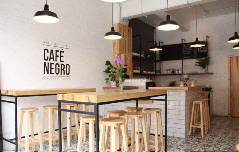 Caf negro la nueva cafeter a de coyoac n shop design for Mobiliario para cafes