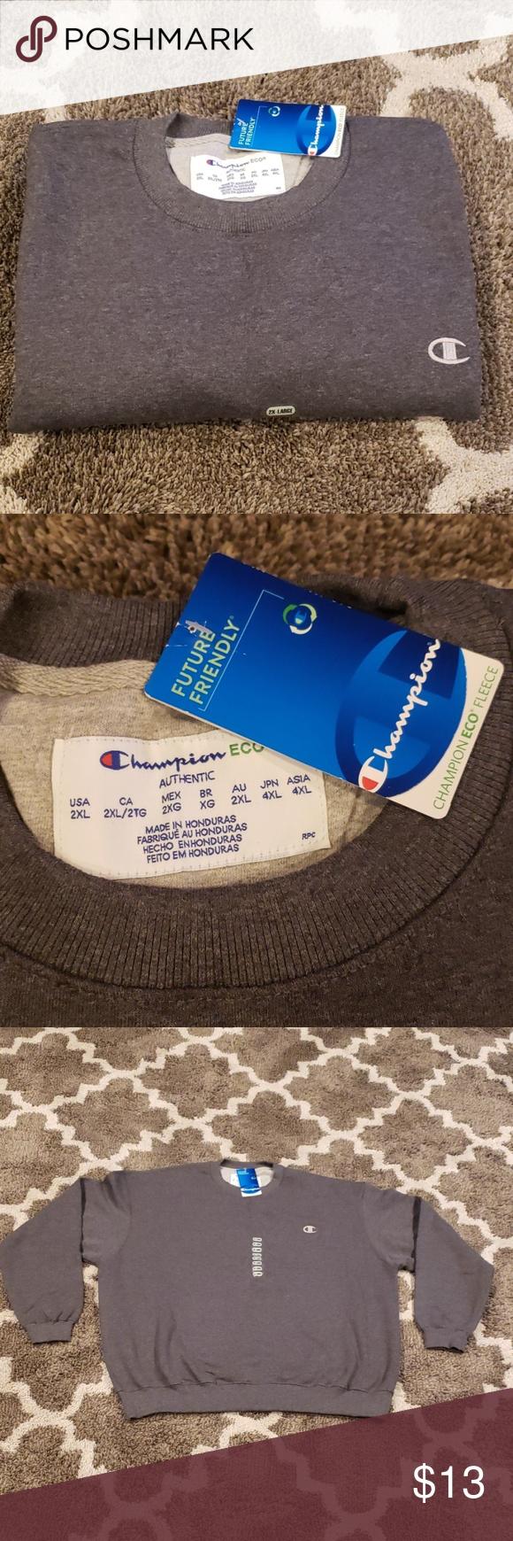 Nwt Champion Eco Fleece Mens Crewneck Sweatshirt Crew Neck Sweatshirt Mens Crewneck Sweatshirt Sweatshirts [ 1740 x 580 Pixel ]