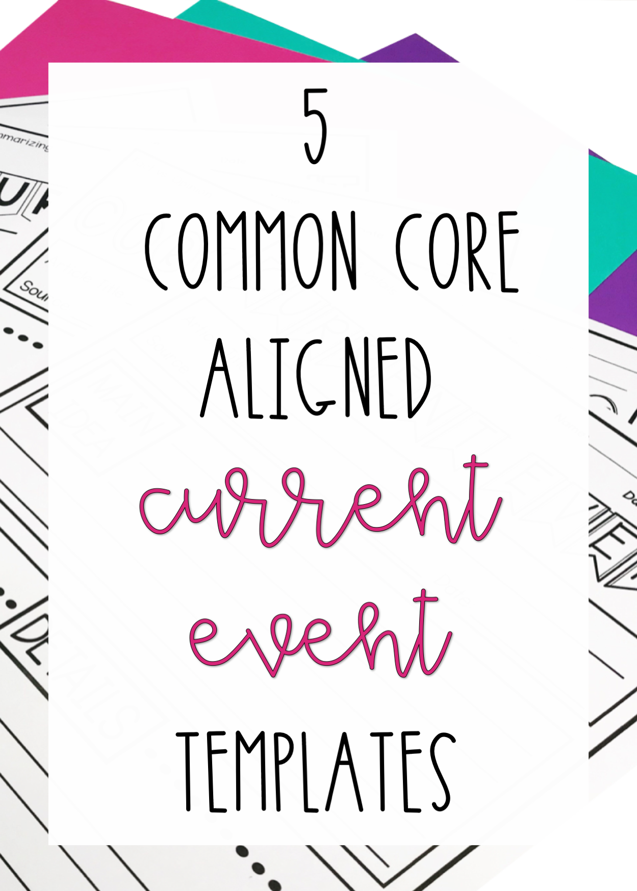 5 Common Core Current Event Reports