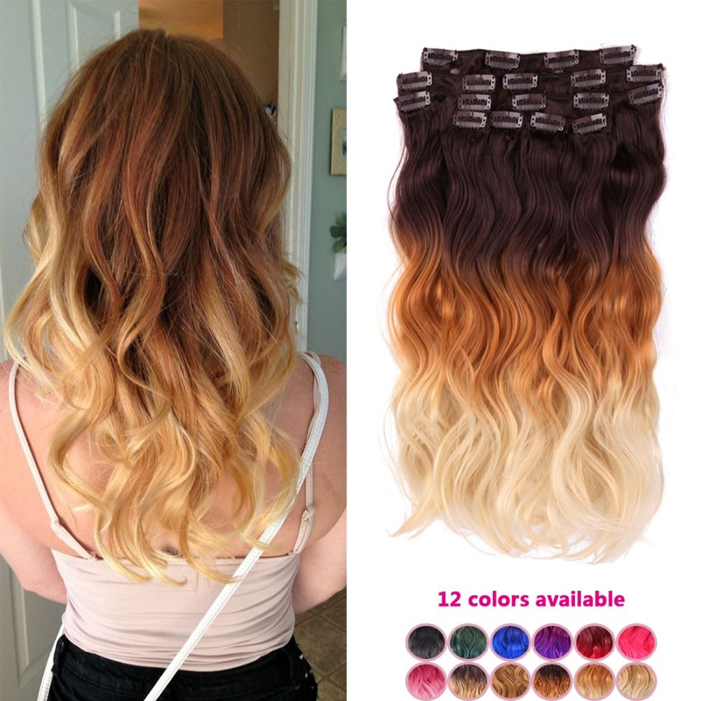 Find More Clip In Hair Extensions Information About Full Head Clip