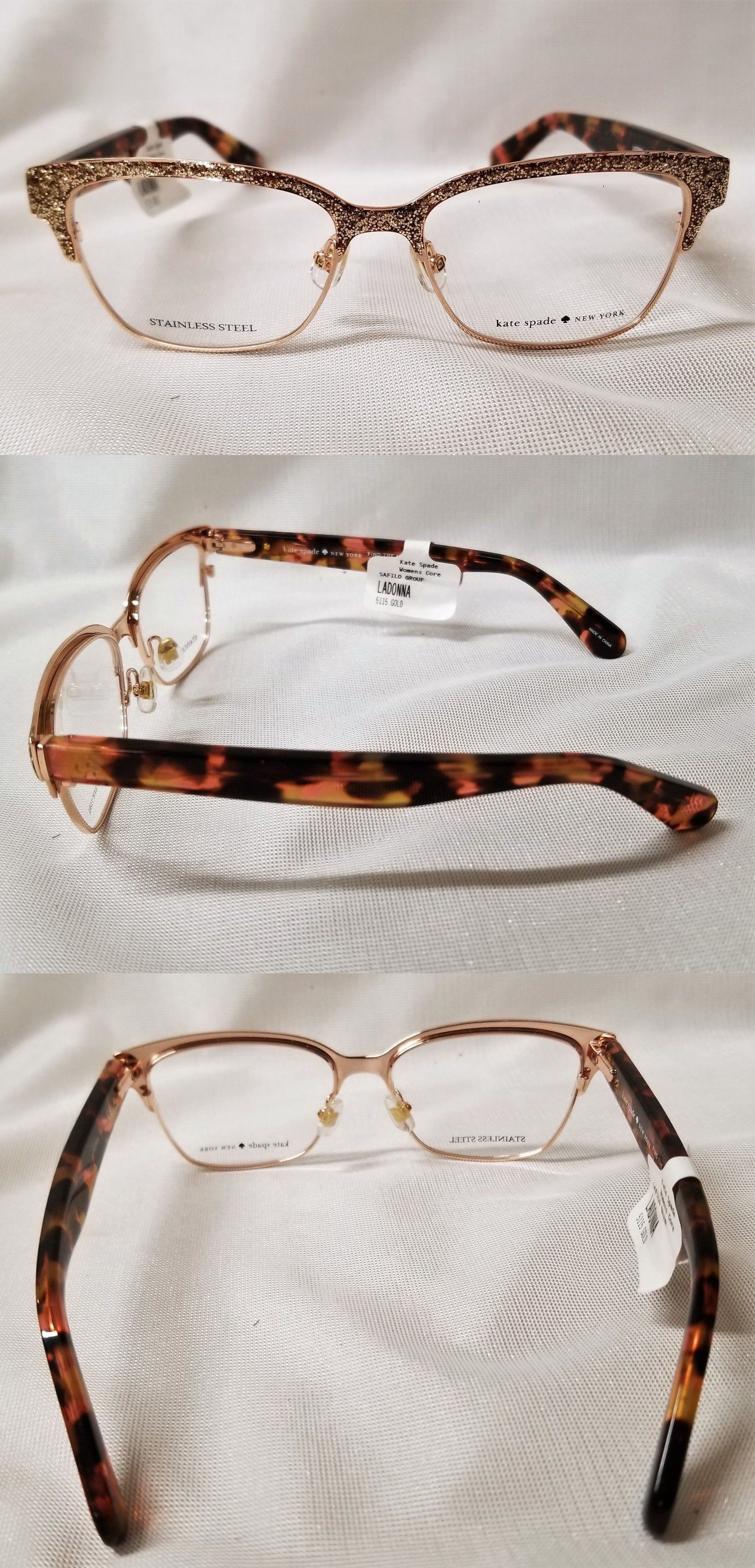 964469eaf15 Eyeglass Frames 180957  Kate Spade Eyeglasses Ladonna 5115 Rose Gold Pink  Havana 51-15Mm