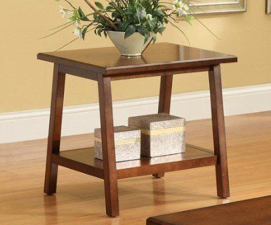 Classic Solid Wood END TABLE With Lower Shelf F by HP $125 99
